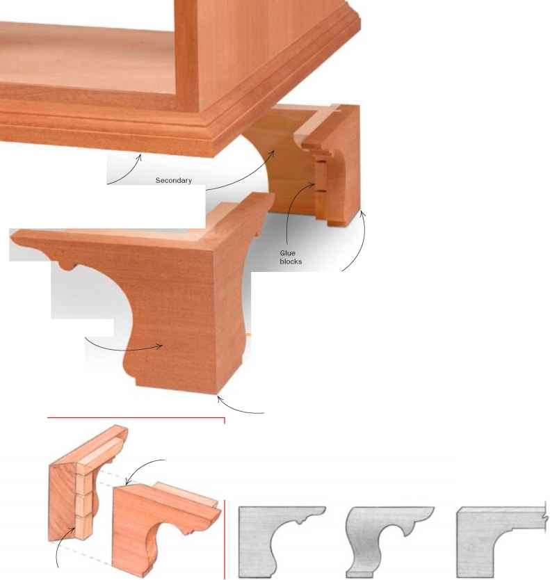 Ogee Bracket Feet Rear