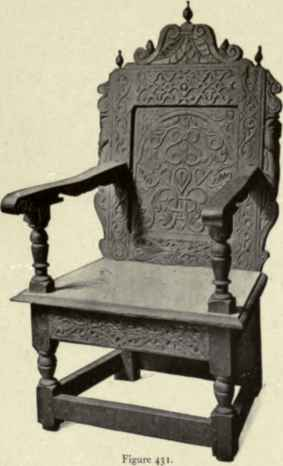 Lovely Carved Oak Wainscot Chair, About 1600.