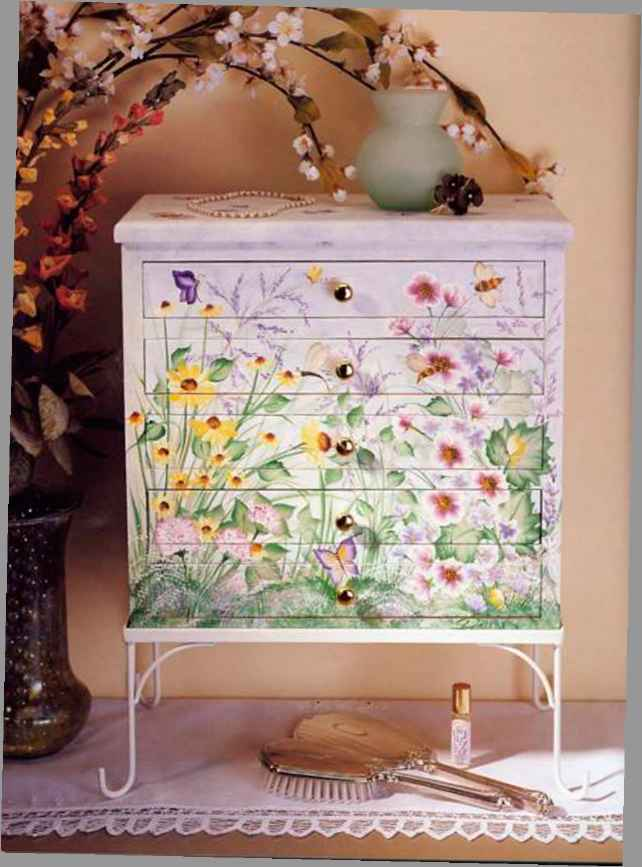 Jewelry Armoire Floral