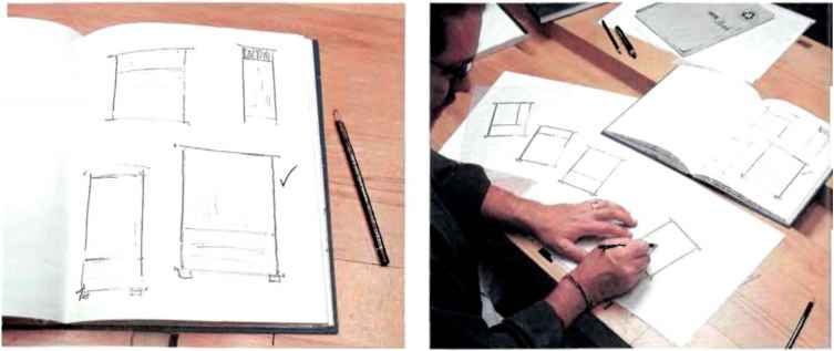 Furniture Design Development Sketches