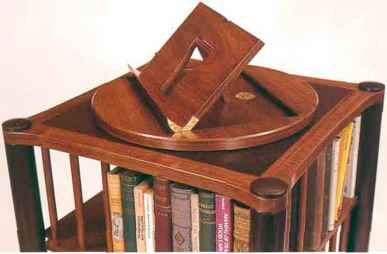 English Walnut Revolving Bookcase
