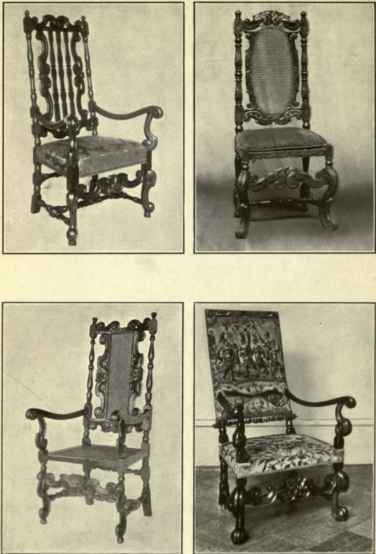 Carolean Late Jacobean Style Chairs