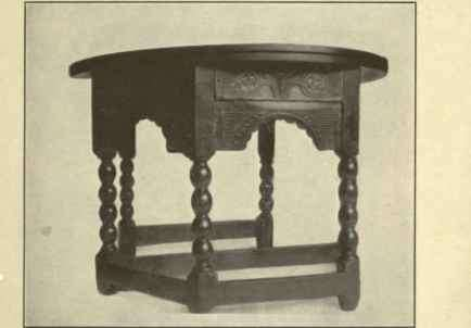 Baroque Jacobean Gate Leg Table