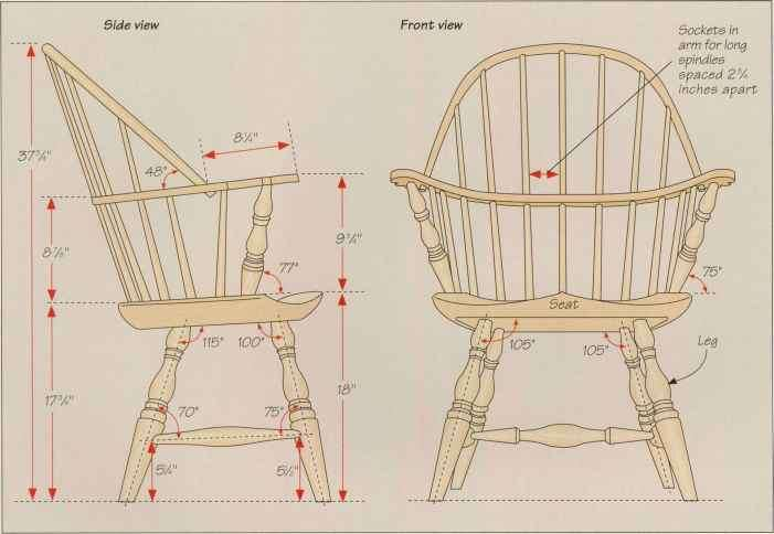 Anatomy Bow Back Windsor Chair