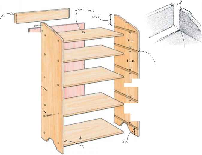 Fine Woodworking Bookcases
