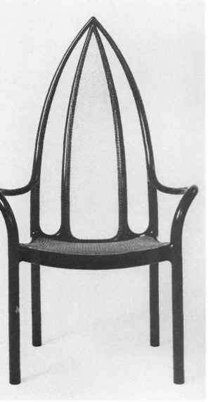 John Makepeace Ebony And Silver Chair