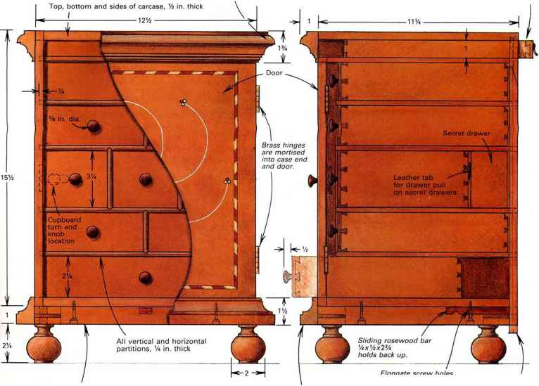 18th Century Spice Box Interiors