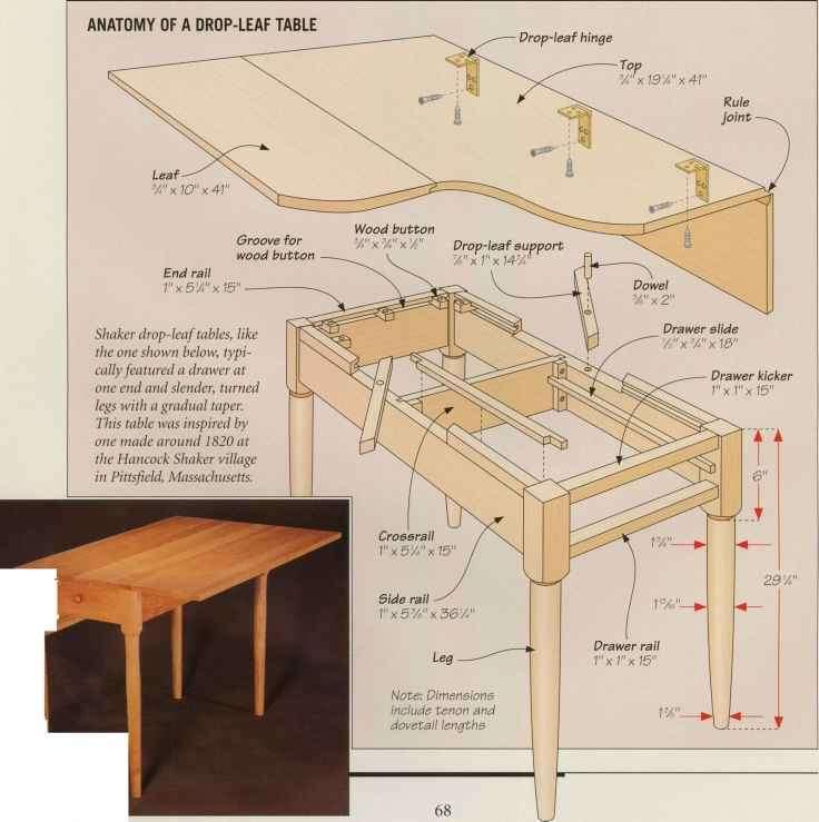 Shaker Desktop Joint Legs Woodworking